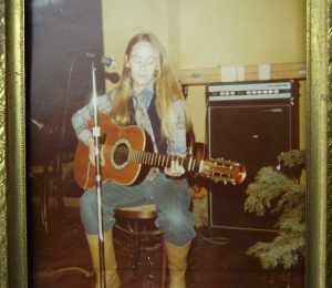 "Nancy Montgomery age 21 - singing ""Angel from Montgomery"" at Jazmins - Ashland, OR"